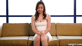 Broad-saw first-timer creampied readily obtainable 1st audition