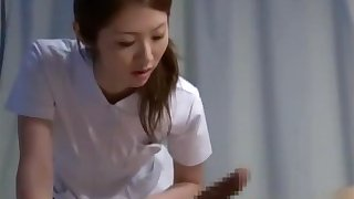 Nurse Giving Handjob Sucking Patient Cock On The Bed In The Infirmary