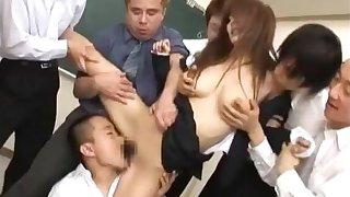 Megu Ayase Lovely Asian teacher gets part1