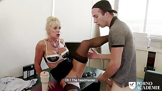 Dominate mature Marina Beaulieu anal sex & DP in triple