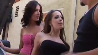 A Threesome Cock Mucky And Sex Stint Be useful to Inlove