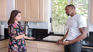 BLACK4K. Interracial be in love with conclave session makes the darkhaired babe