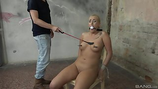 Spanking gives a new level of sexual pleasure for tied Daisy Lee