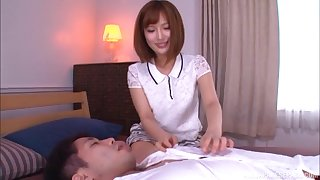 Cute Japanese in a miniskirt Okazaki Emiri creampied at a motel room