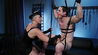 Mistress Kara and Rick Fantana in dirty femdom scenes