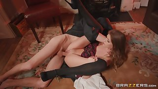 Skinny Rhiannon Ryder gets a huge number of dick in that privy pussy