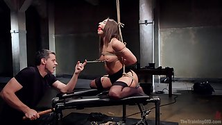 Submissive Abella Danger feeds her mouth and ass there a gigantic dick