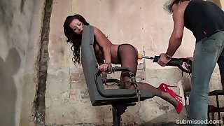 Adel Sunshine gets say no to wet pussy pleased by a long friend's toy
