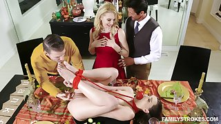 One couples swap girlfriends : Alix Lynx and sexy Aften Opal