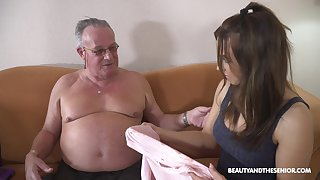 Stepdaughter's introduction to older men coupled with that girl can fuck