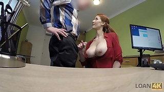 LOAN4K. Vet doctor with giant hooters sucks