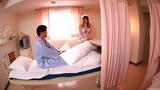 Broad in the beam tits Japanese nurse Momoka Nishina pleasures say no to horny patient
