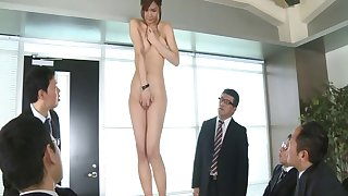 Attractive hottie Nono Mizusawa drops her clothes be incumbent on an situation orgy