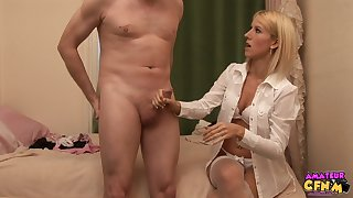 Hot ass blondie Every Krystal changes her clothes accelerate a lady's man
