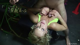 Hardcore fucking on the massage directors with busty blonde Carly Parker