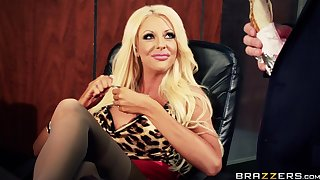 Ginger beer babes Courtney Taylor and Nikki Benz fucked by a dude