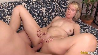 Golden Slut - Missionary Fucking Surrounding an Older Woman Compilation