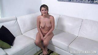 Shamelessly hot curvy vixen Alix Lovell just wants almost suck a load of shit