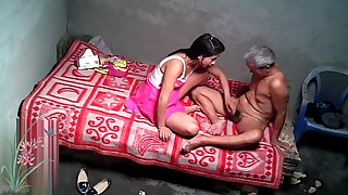 Asian Grandpa With Sexy Strumpet