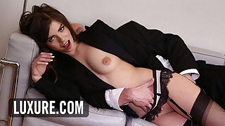 Manon Martin hot brunette anal plug in turns give triumvirate