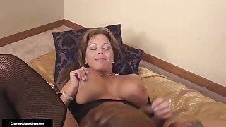 Mommies Got Boobs! Charlee Chase & Amber Lynn Bach Have Sex!
